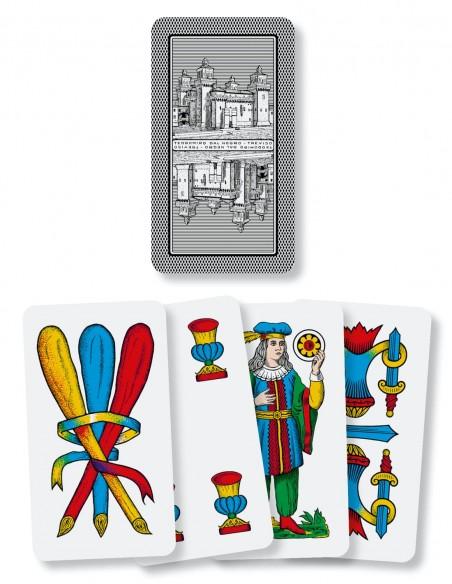 Carte da gioco regionali Romagnole Dal Negro dorso e semi