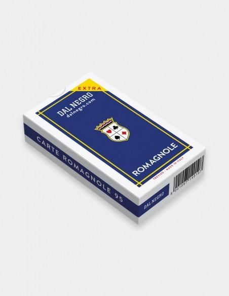 Carte da gioco regionali Romagnole Dal Negro con astuccio blu
