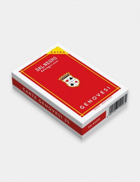 Carte da gioco regionali Genovesi Dal Negro con astuccio rosso