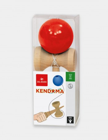 Gioco Kendama in legno con palla rossa Dal Negro foto confezione