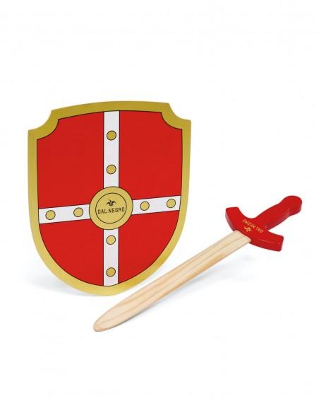 Set Cavaliere in legno Dal Negro spada e scudo