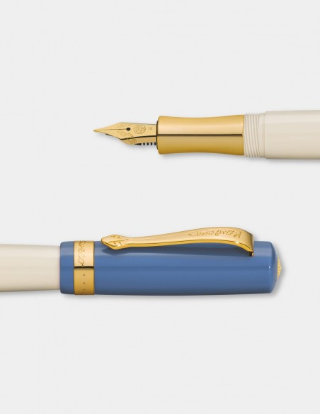 Penna stilografica Kaweco serie Student 50's Rock dettagli punta e tappo