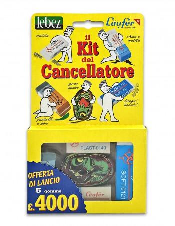 Il Kit del Cancellatore Läufer lebez confezione da 5 gomme in plastica ed in caucciù - confezione