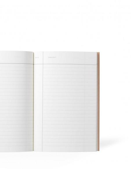 Quaderno notebook di Notem Studio collezione Vita dimensione small aperto con pagine a righe