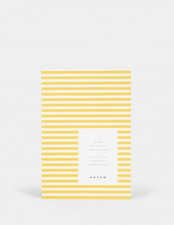 Quaderno notebook di Notem Studio collezione Vita dimensione small copertina a righe gialle