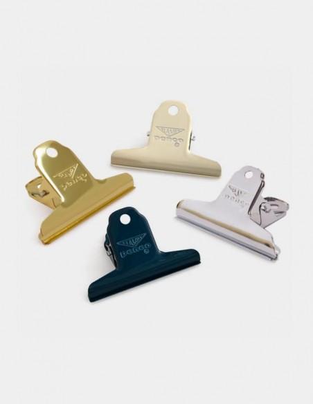 Molletta fermacarte Clampy Clip di Penco Japan colori disponibili gold silver avorio e navy