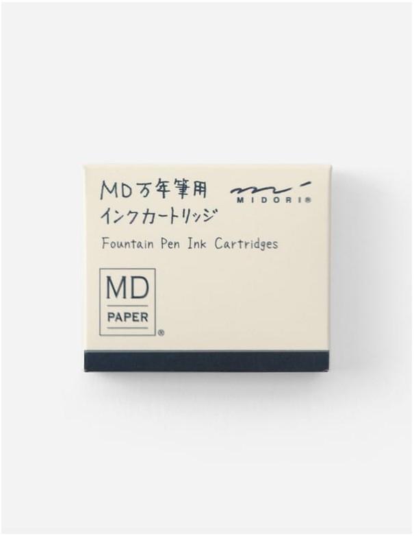 Cartucce standard per stilografica MD Paper, inchiostro blu, confezione