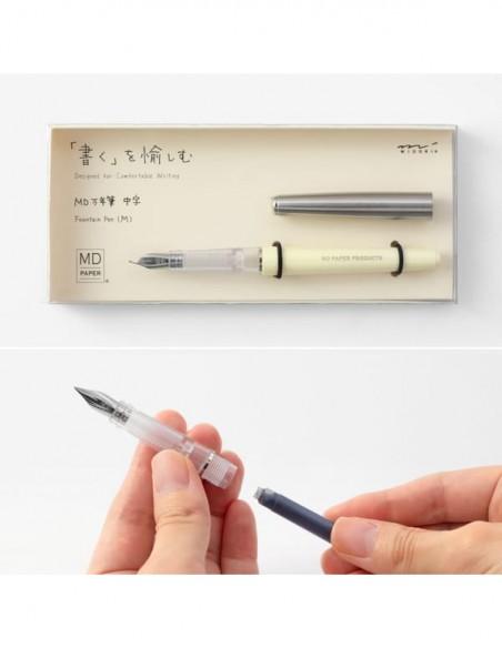 Cartucce standard per stilografica MD Paper, caricamento della penna
