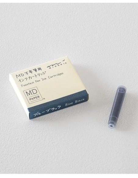 Cartucce standard per stilografica MD Paper, inchiostro blu