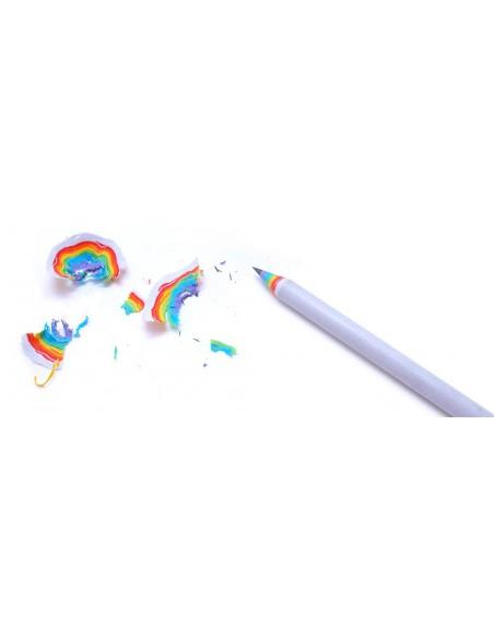 Matite arcobaleno Duncan Shotton rainbow pencil colore bianco con trucioli