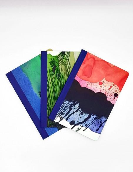 Marimekko Notebook Collection set di tre quaderni con pattern della serie Weather Diary