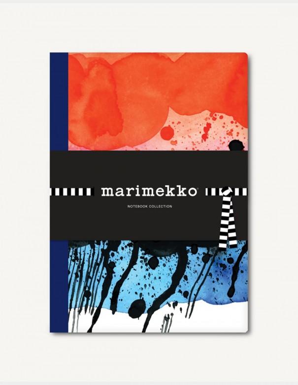Marimekko Notebook Collection set di tre quaderni con pattern della serie Weather Diary e nastrini