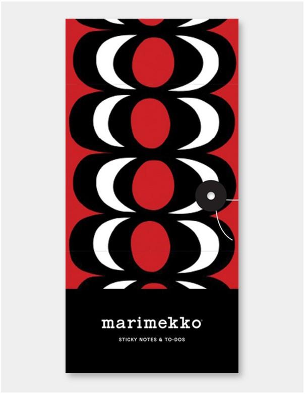 Set portfolio con Memo e segnapagina di Marimekko con chiusura a laccio