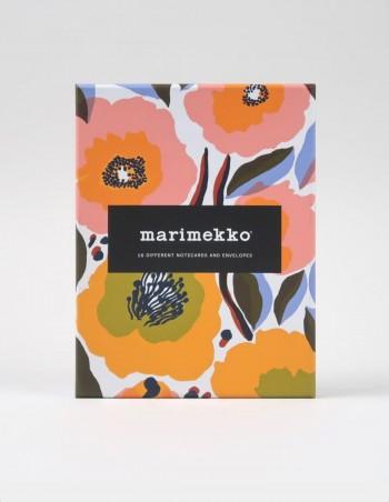 Cofanetto Marimekko 16 biglietti con busta vista frontale