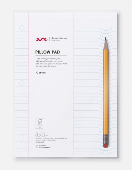 Blocco note Pillow Pad a righe copertina