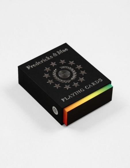 Mazzo di carte da gioco francesi arcobaleno di design