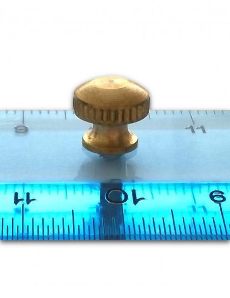 righello doppio decimetro 20 cm antica fabbrica vittorio martini colore azzurro particolare pomello