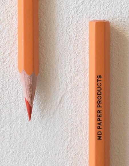 Confezione 6 matite colorate MD Paper  arancioni