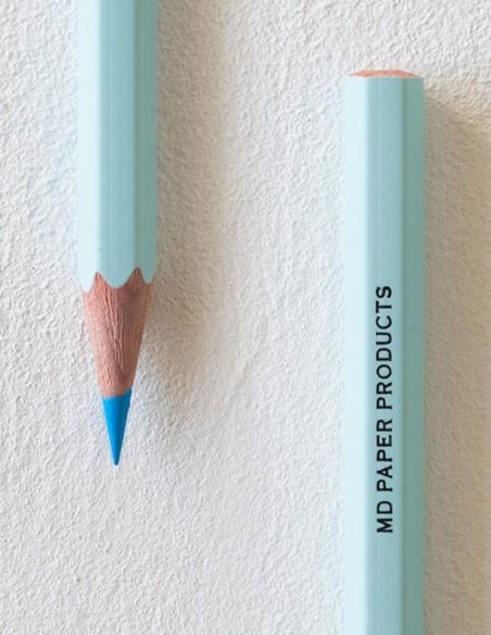 Confezione 6 matite colorate MD Paper  azzurre