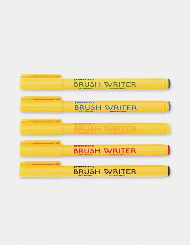 Colori a pennello Brush Writer Penco confezione 5 pezzi vista pennarelli