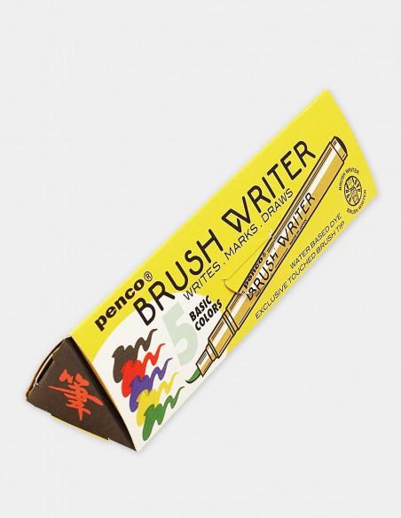 Colori a pennello Brush Writer Penco confezione 5 pezzi vista astuccio