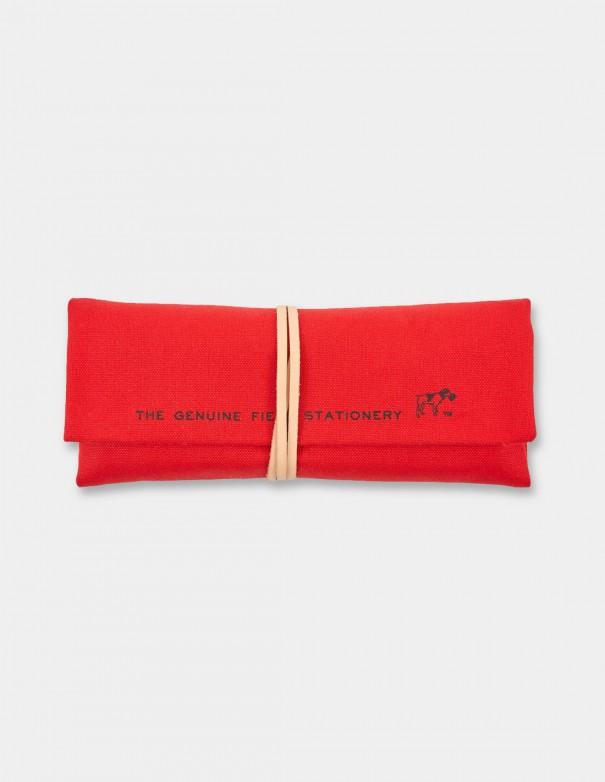 Astuccio arrotolabile Field Roll HIGHTIDE rosso vista frontale