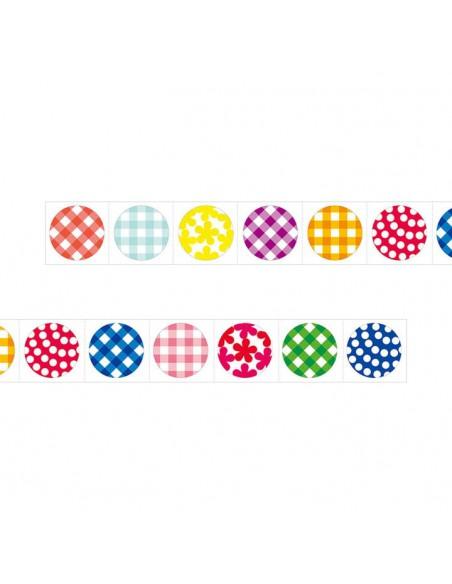 adesivi chiudi pacco in rotolo Midori Chotto Roll Stickers Colorful Circles fantasie