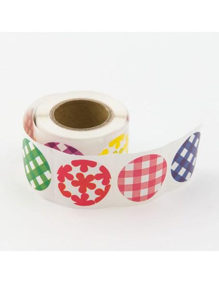 adesivi chiudi pacco in rotolo Midori Chotto Roll Stickers Colorful Circles cerchi
