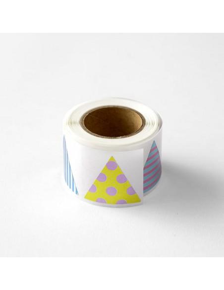 adesivi chiudi pacco in rotolo Midori Chotto Roll Stickers triangle metallic vista generale