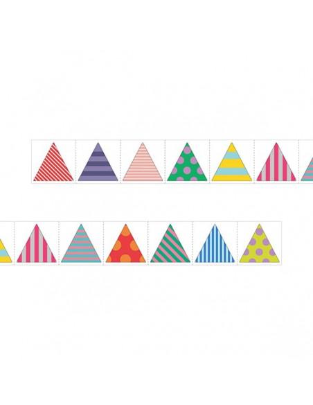 adesivi chiudi pacco in rotolo Midori Chotto Roll Stickers triangle metallic triangoli