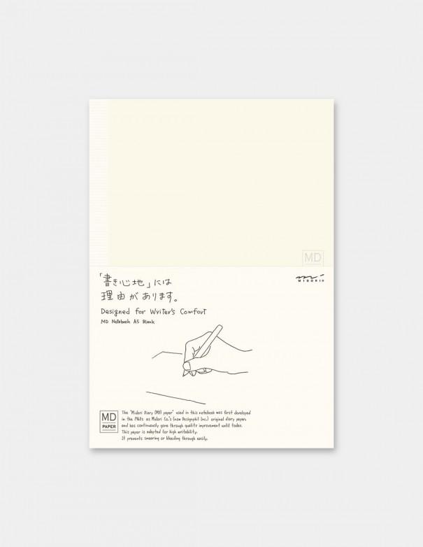quaderno MD PAPER Notebook  A5 Blank vista confezione