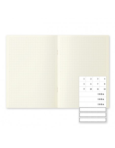 quaderni MD PAPER Notebook Light A 5 Gridded confezione da 3 pezzi vista pagina interna