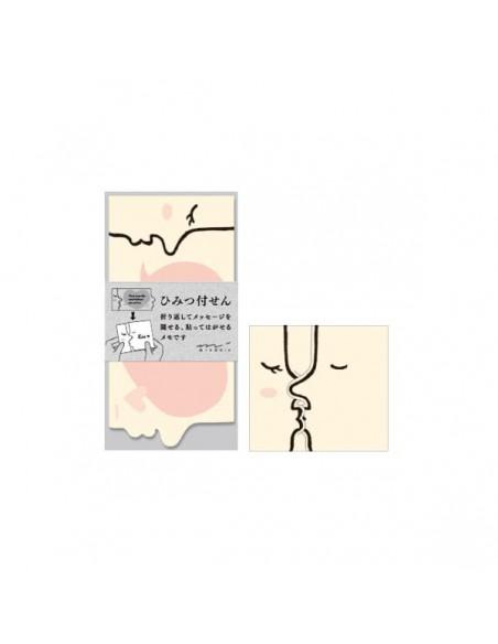 Midori Kiss Pink Secret Sticky Notes memo adesivi confezione