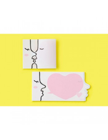Midori Kiss Pink Secret Sticky Notes memo adesivi in uso