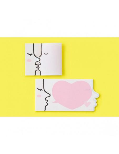 Midori Kiss Pink Secret Sticky Notes memo adesivi in uso