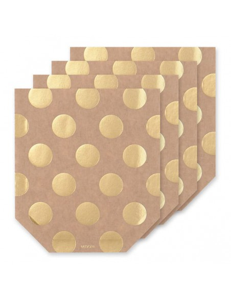 tasca adesiva per regali con bigliettino Chotto Midori Dot Gold vista solo tasche
