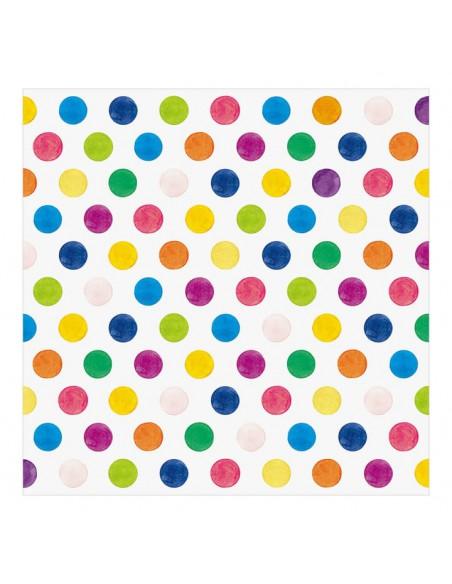 carta origami acquerello MIDORI CHOTTO Watercolor Dots vista posteriore