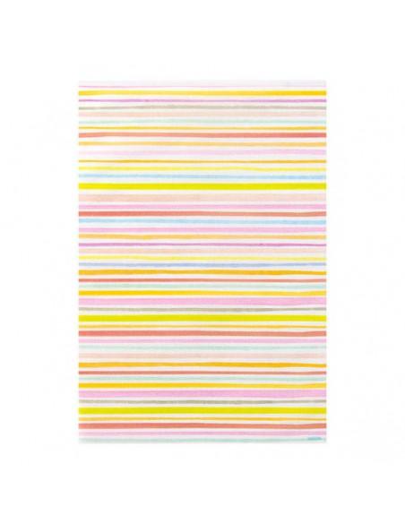 Bustine GLASSINE BAG Chotto Midori Watercolor Border Pink taglia MEDIUM adatto anche per alimenti vista frontale