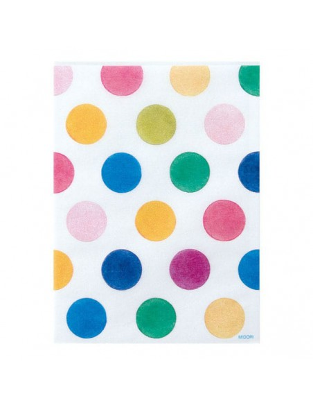 Bustine GLASSINE BAG Chotto Midori Watercolor Dots taglia SMALL adatto anche per alimenti vista frontale
