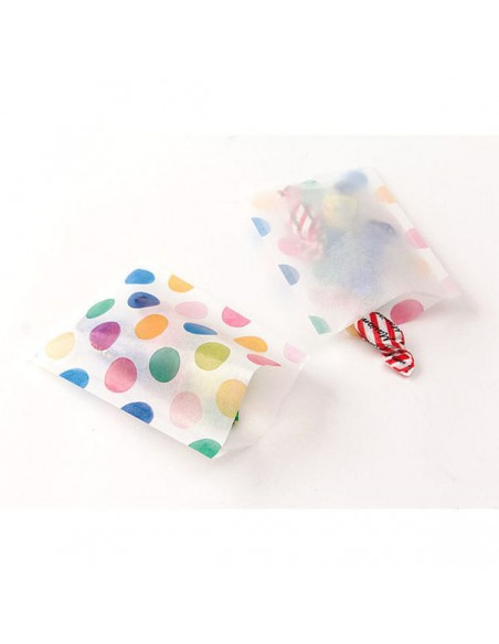 Bustine GLASSINE BAG Chotto Midori Watercolor Dots taglia SMALL adatto anche per alimenti vista in uso