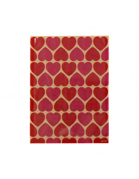 bustine clear faced bag chotto midori taglia SMALL Kraft Heart Pink vista frontale