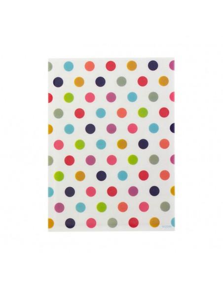bustine clear faced bag chotto midori taglia SMALL Colour dots vista frontale