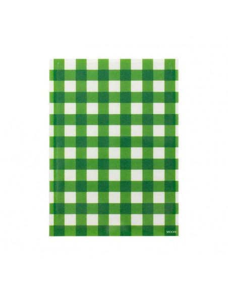 bustine clear faced bag chotto midori taglia SMALL check green vista frontale