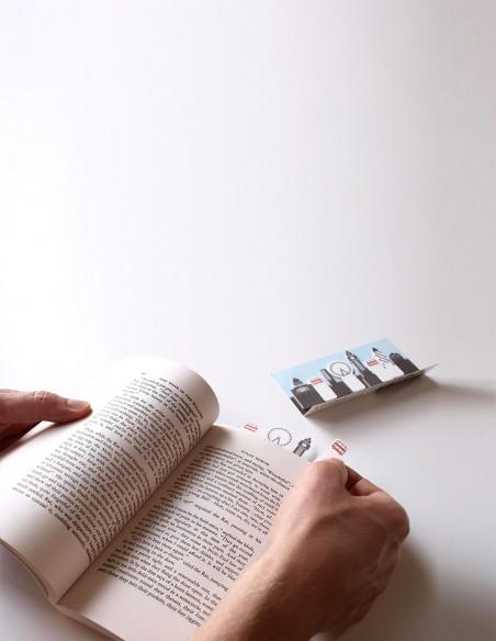 segnalibri adesivi London Duncan Shotton vista in mano