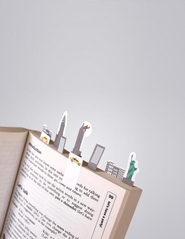 segnalibri adesivi New York Duncan Shotton vista in uso