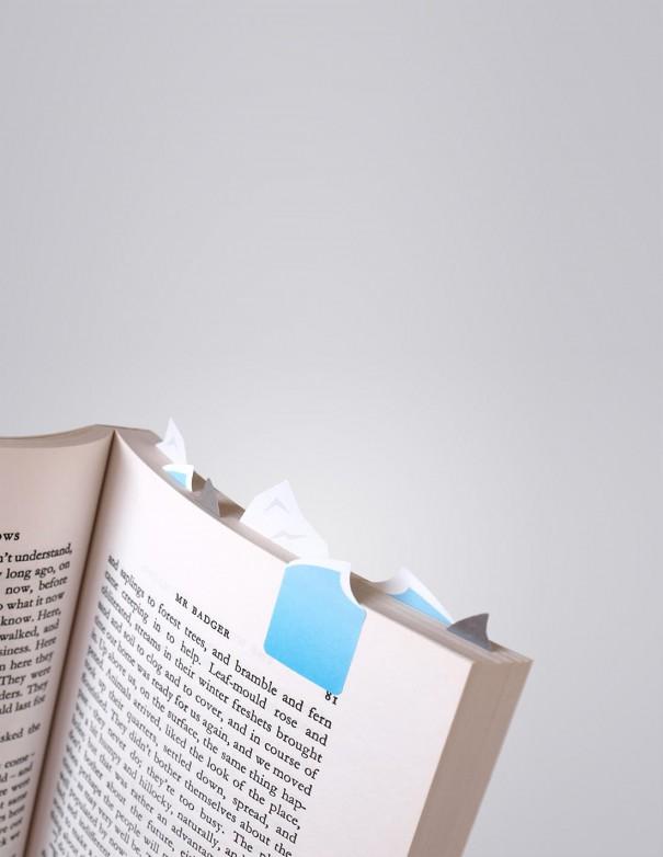 segnalibri adesivi Ocean Duncan Shotton vista in uso