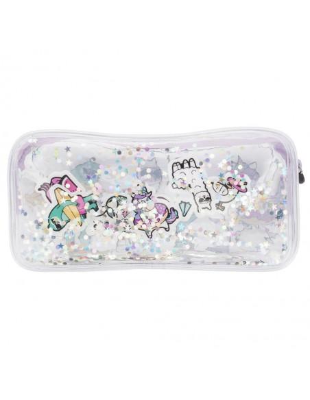 astuccio trasparente liquido con glitter DREAM TEAM 2 retro