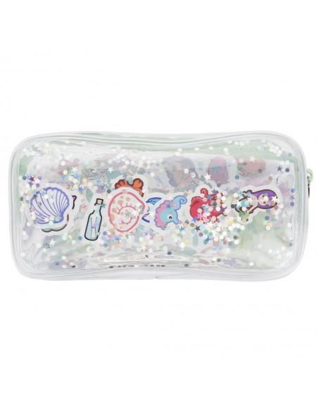 astuccio trasparente liquido con glitter MERMAIDS retro