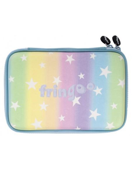 astuccio rigido con paillettes bicolore RAINBOW STARS vista posteriore