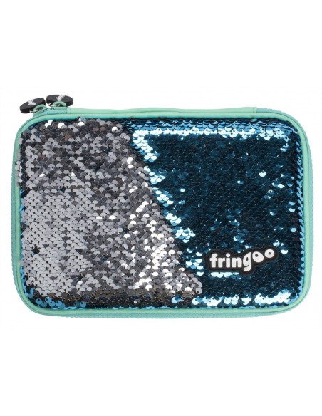 astuccio rigido con paillettes bicolore BLUE ARROW vista frontale